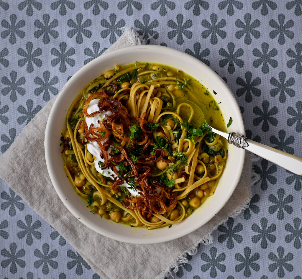 Persian Style Bean and Noodle Soup Recipe