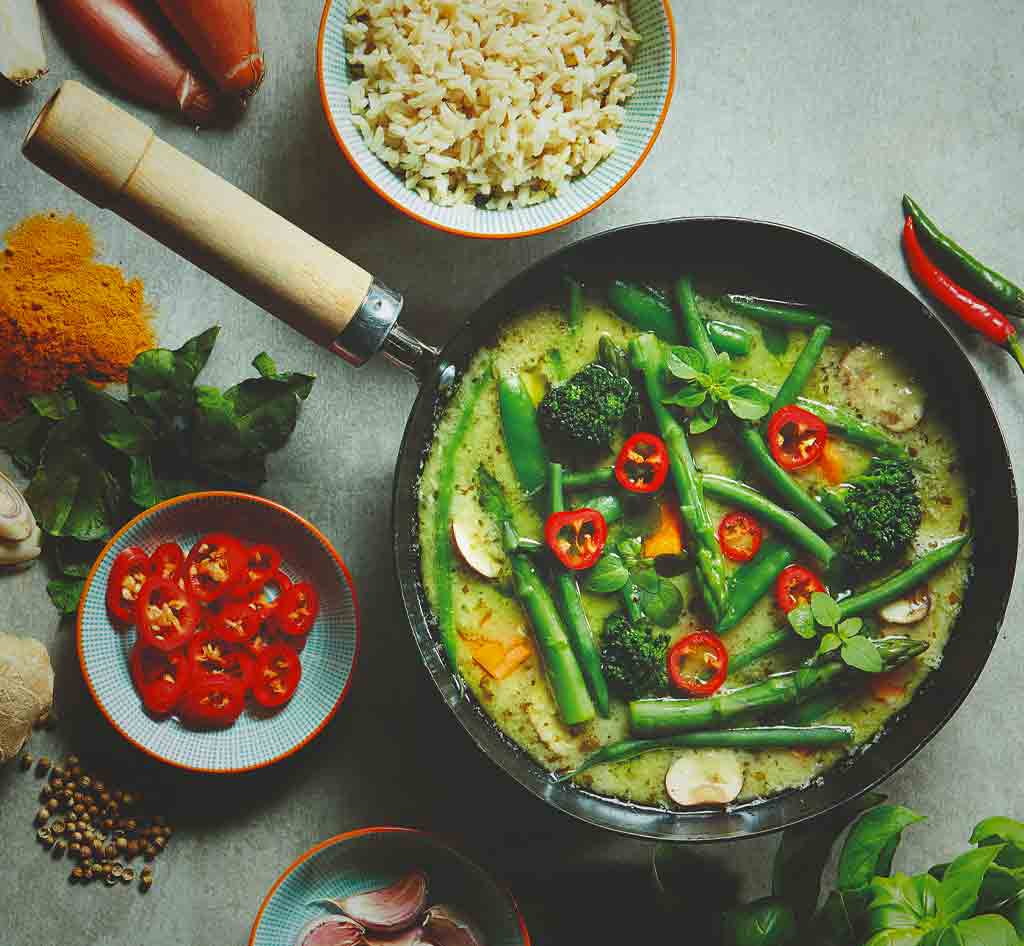 Thai Green Curry with sticky rice