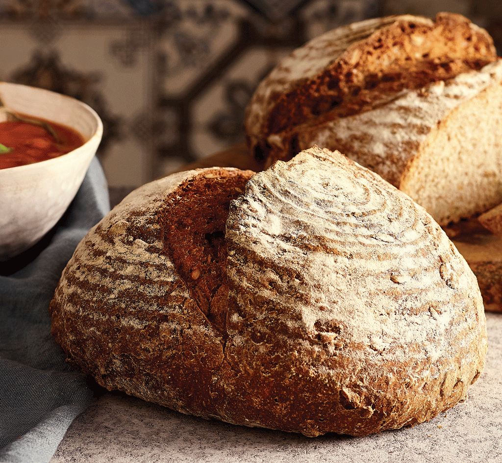 Bake traditional rustic maslin bread with this delicious vegan recipe