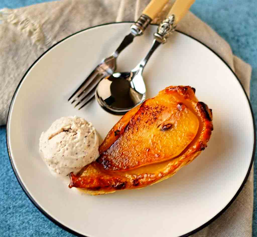 Individual Pear Tatins with Cinnamon Ice Cream