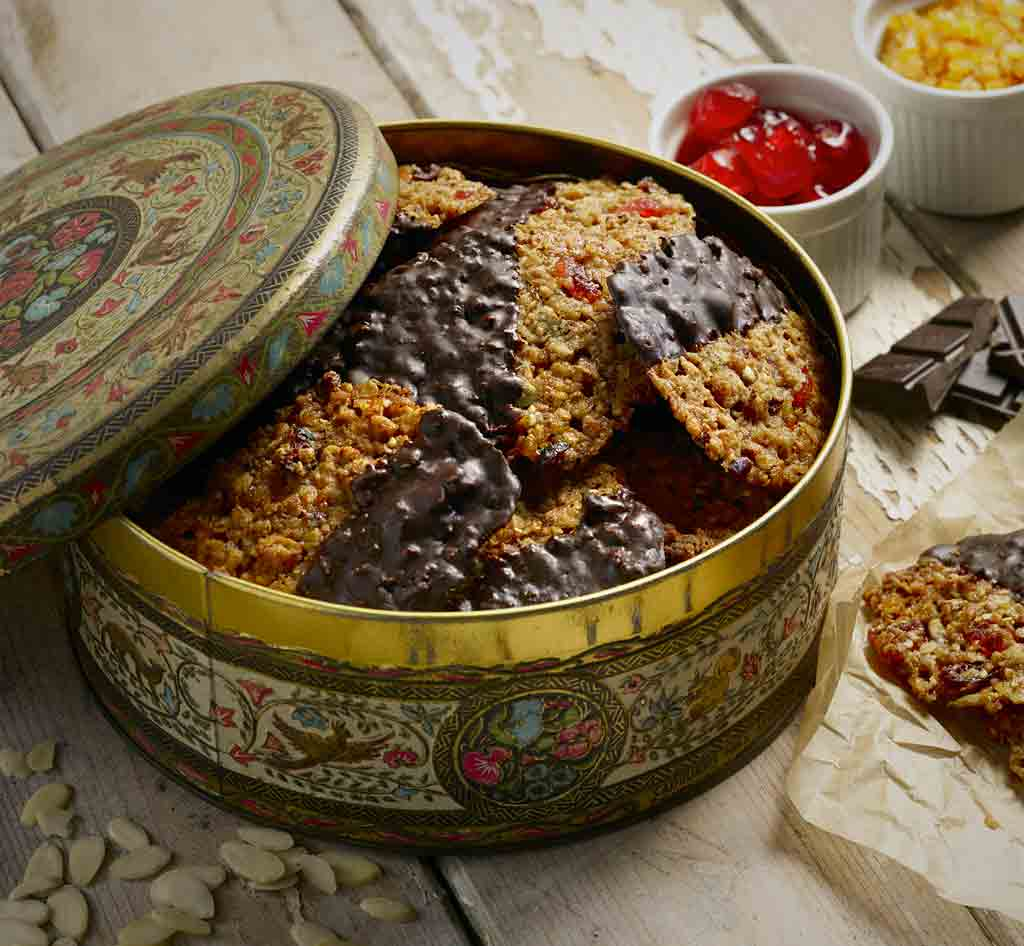 Crunchy, Chocolatey and  Oaty Florentines recipe