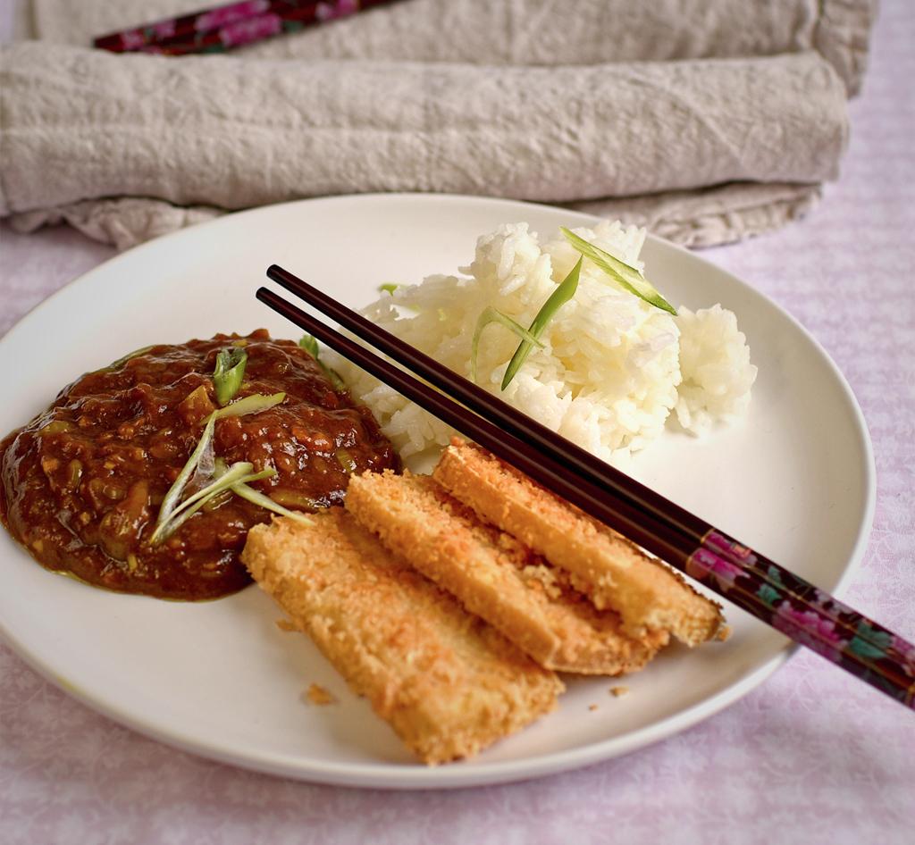 Vegan Katsu Curry with Panko Tofu