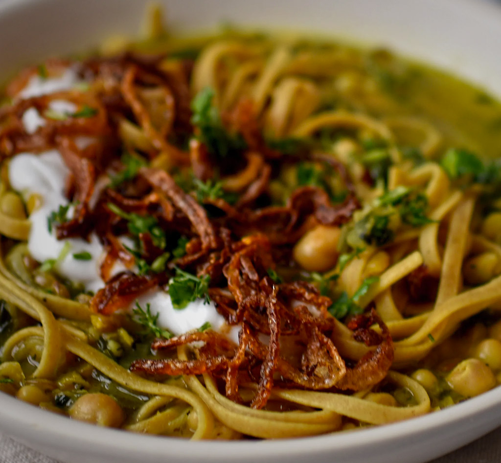 Persian Style Bean & Noodle Soup