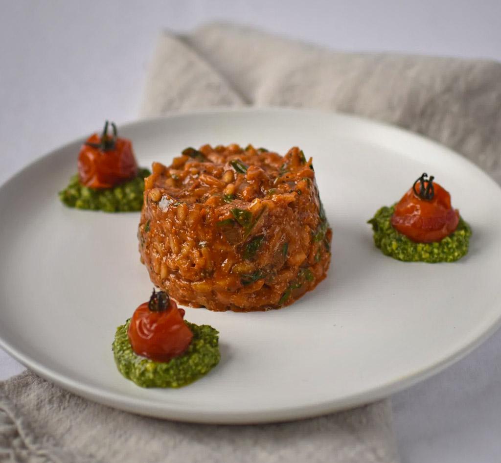 Tomato & Spinach Risotto