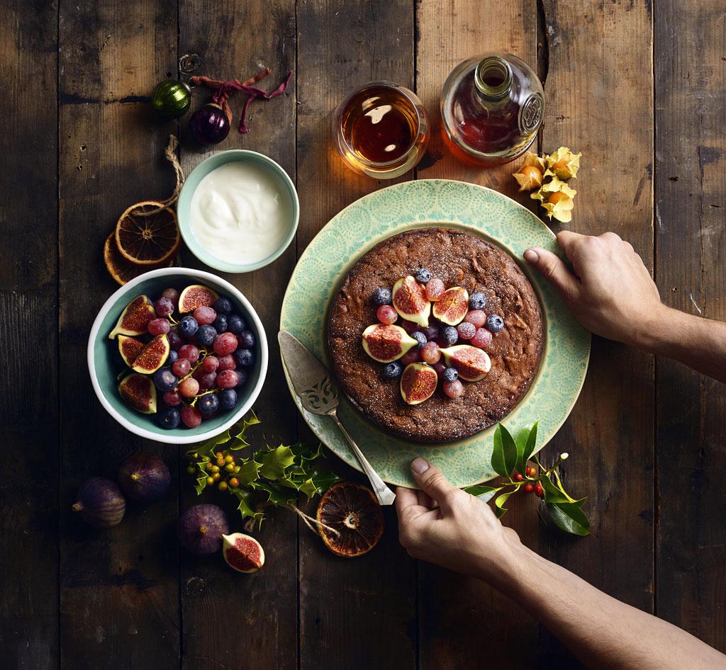 Vegan Tropical Christmas Cake